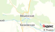 Гостиницы города Вешенская на карте