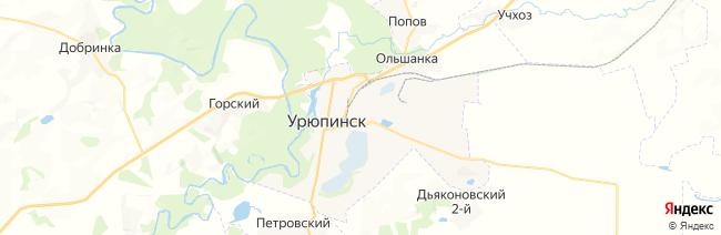 Урюпинск на карте
