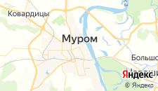 Гостиницы города Муром на карте