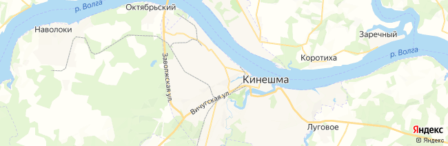Кинешма на карте
