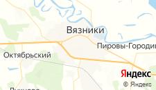 Гостиницы города Вязники на карте