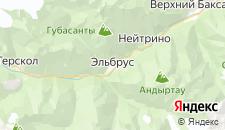 Гостиницы города Приэльбрусье на карте