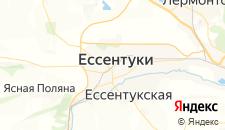 Гостиницы города Ессентуки на карте