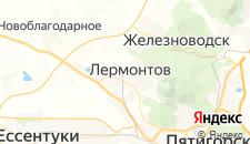 Гостиницы города Лермонтов на карте