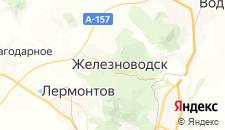Гостиницы города Железноводск на карте