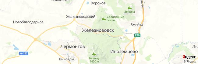 Железноводск на карте