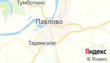 Гостиницы города Павлово на карте