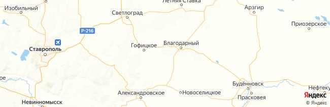 Ставропольский край на карте