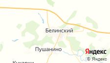 Гостиницы города Белинский на карте