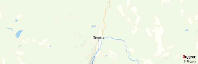 Пинежский заповедник на карте