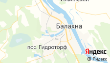 Гостиницы города Балахна на карте