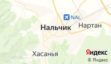 Гостиницы города Нальчик на карте