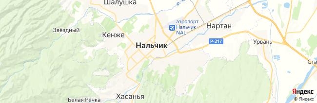 Нальчик на карте