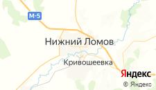 Гостиницы города Нижний Ломов на карте