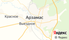 Гостиницы города Арзамас на карте