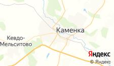 Гостиницы города Каменка на карте