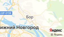 Гостиницы города Бор на карте