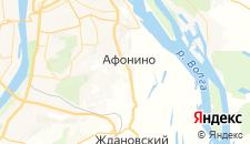 Гостиницы города Афонино на карте