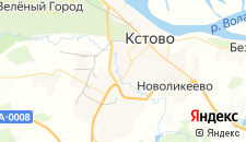 Гостиницы города Кстово на карте