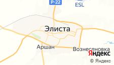 Гостиницы города Элиста на карте
