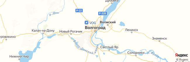 Волгоградская область на карте