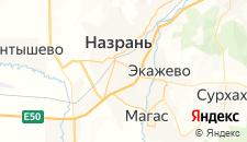 Гостиницы города Назрань на карте