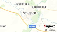Гостиницы города Аткарск на карте