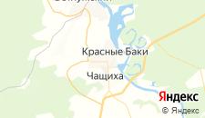 Гостиницы города Красные Баки на карте