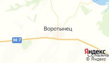 Гостиницы города Воротынец на карте