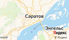 Гостиницы города Саратов на карте