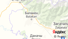 Гостиницы города Балакен на карте
