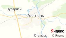 Гостиницы города Алатырь на карте