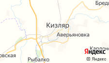 Гостиницы города Кизляр на карте