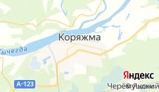 Гостиницы города Коряжма на карте