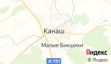Гостиницы города Канаш на карте