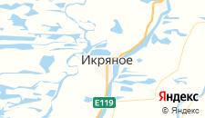 Гостиницы города Икряное на карте