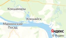 Гостиницы города Кокшайск на карте