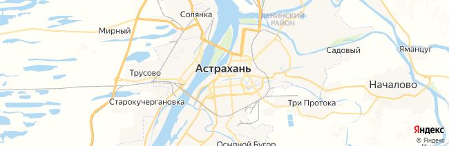 Астрахань на карте
