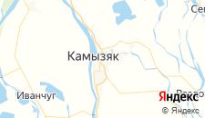Гостиницы города Камызяк на карте