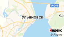 Гостиницы города Ульяновск на карте