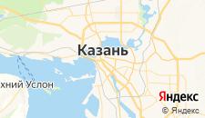 Гостиницы города Казань на карте