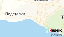 Гостиницы города Приморский на карте