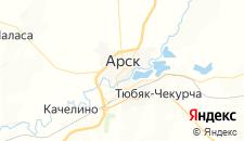 Гостиницы города Арск на карте