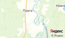 Гостиницы города Пажга на карте