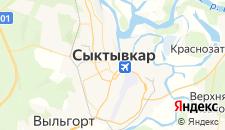 Гостиницы города Сыктывкар на карте