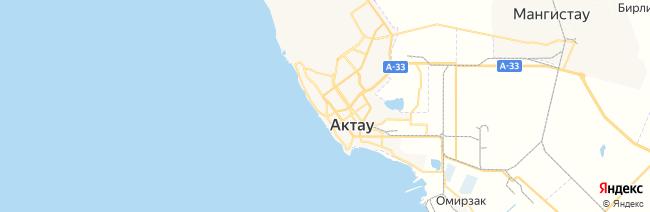 Актау (Шевченко) на карте