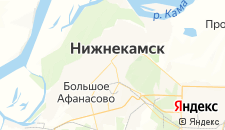 Гостиницы города Нижнекамск на карте
