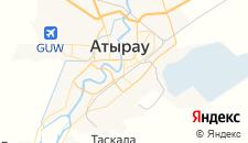 Гостиницы города Атырау на карте