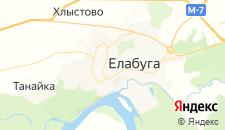 Гостиницы города Елабуга на карте