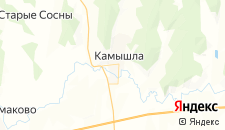 Гостиницы города Камышла на карте